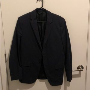 Navy Theory Suit Jacket